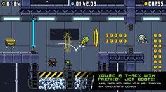 RetroManiac | Revista de videojuegos retro |Videogames Magazine | Indie | Games | Gratis: El plataformas de vieja escuela JumpJet Rex en acceso anticipado en Steam
