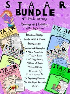 I put six of my STAAR Revising and Editing passages in one bundle with 6 connected prompt pages and 26 line paper for expository composition practice.