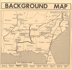 """In the 1961 Freedom Rides, an integrated group of civil rights activists rode Greyhound and Trailways busses into the South planning for black riders to enter """"whites only"""" sections while white riders would enter the """"colored"""" waiting rooms. The integrating actions of these Freedom Riders met with relatively minor resistance until they arrived in Anniston, Alabama on 14 May 1961."""
