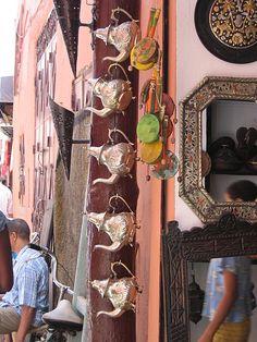 Choose your teapot! Essaouria, Morocco