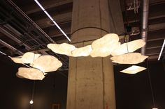 Raumgestalt's Cloud Lamp is an envelope-like lamp made of Tyvek that expands to fit over a hanging bulb, affordably updating an exposed fixture.