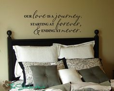 Our Love is a Journey Quote Saying Vinyl Wall Art Lettering Decals Stickers 491. $16.99 USD, via Etsy.