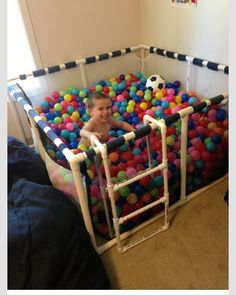 DIY ball pit. I want this more for than my child (: