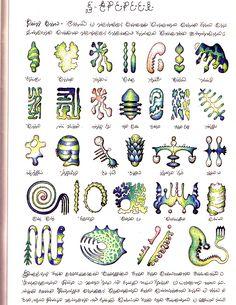 codex seraphinianus - amoebic forms