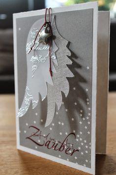 Angel wings Mehr by jillian Diy Christmas Cards, Xmas Cards, Diy Cards, Christmas Time, Holiday Cards, Christmas Crafts, Christmas Decorations, Wings Card, Angel Cards