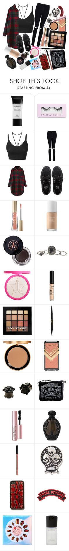 """""""Take a step inside my mind. As my eyes are open wide. In my sleep I turn and toss. To rebuild the heart I lost."""" by thelyricsmatter ❤ liked on Polyvore featuring Smashbox, Boohoo, LE3NO, Underground, Too Faced Cosmetics, Anastasia Beverly Hills, Wet Seal, NYX, tarte and Hot Topic"""