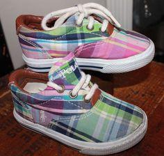 Ralph Lauren Polo Plaid Tennis Shoes Toddler Child 6 #PoloRalphLauren #casual