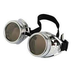 Burning Man Goggles Cyber Punk Gothic (Silver) - The Festival Bay A One Stop For All Things Festival - Festival clothes, camping gear, burning man goggles, & much more!