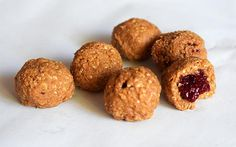 <p>These peanut butter and jam balls are seriously amazing. </p>