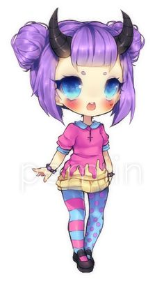 Chibi commission for of her OC Velleda. <333 She's so gorgeous. *A* But man her hair is work even as a chibi! Hahah XD <3 Hope you like it! Velleda (c) *Cici88 Art (c) =RaineSeryn