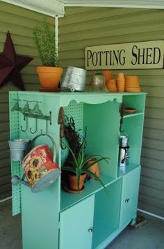 25 Recycled Upcycled Entertainment Centers Furniture Projects | good idea for the one in garage