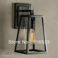 ностальгический стеклянные бра марочный настенные светильники лампа накаливания сидя заседаний спальня