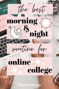 Online college is taking a toll on all of us! Looking for ways to make it easier? Here is the BEST morning & night routines for online college and virtual classes. Self-care is KEY during the COVID-19 pandemic, so make sure you are getting enough sleep and following a perfect morning and night routine.