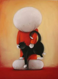 Somebody Loves You - Edition on Paper by Doug Hyde If You Love Someone, Love You, Simons Cat, Dog Illustration, Hyde, Cat Art, Artsy Fartsy, Whimsical, Sculptures