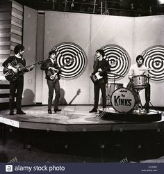 The Kinks during rehearsals for Top Of The Pops in 1964