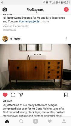 Black Taps, Metro Tiles, Gone Fishing, Kitchen Ideas, Restoration, Vanity, Cabinet, Storage, Furniture