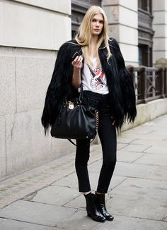 Cropped trousers + Ankle boots