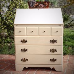 Ethan Allen Vintage Secretary Painted In Annie Sloan Chalk Paint S Country Gray All Things New