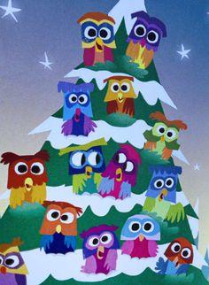 Carte de Noël de hibou / chouette carte / carte par PicklePunch