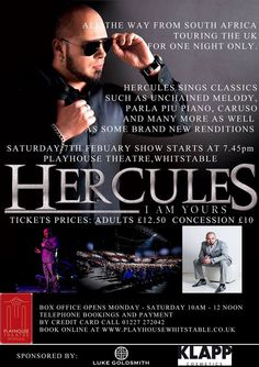 Tickets still available for singer Hercules Smith this evening - don't miss out!