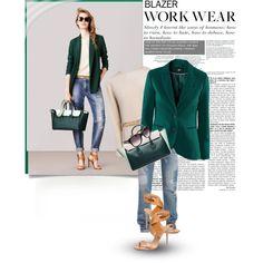 Work Staple: Blazer... by unamiradaatuarmario on Polyvore featuring moda, Bally, blazer, bally, Spring2015 and workblazer