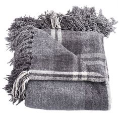 Lyman Throw Blanket Color: Gray (77 CAD) ❤ liked on Polyvore featuring home, bed & bath, bedding, blankets, fillers, decor, blanket, accessories, tartan blanket and woven blankets