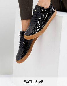630fe5377687 ASOS WHITE x Reebok Workout FVS Sneakers In Patent Reebok