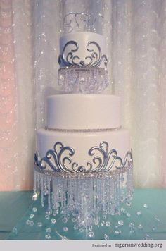 Chandelier cakes Hang festive items from the second tier of cupcake stand