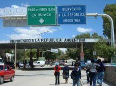 la quiaca - entrando por el norte. Paso de Frontera, límite con Bolivia.