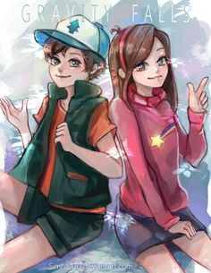 Gravity Falls by SimhaART.deviantart.com on @DeviantArt Dipper Pines, Mabel Pines, Dipper And Mabel, Gravity Falls Fan Art, Reverse Gravity Falls, Gravity Falls Anime, Reverse Falls, Desenhos Gravity Falls, Fall Tumblr