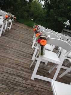 Ceremony on the bridge at a local venue, Irongate Equestrian Center. #BarnWedding #RusticWedding. By Made From Scratch in Columbus, Ohio. www.made-from-scratch.com