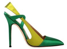 MANOLO #blahnik ~ LOVE the colour combination, I just wish they were on a MUCH shorter, wider wedge for me! #manoloblahnikheelsladiesshoes #manoloblahnikheelscolour #manoloblahnikheelschristianlouboutin