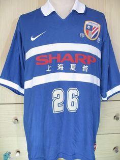 Shanghai Shenhua China Nike 1998 Vintage Jersey Football Match Issue Shirt  L  75f1412d5