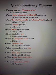 Grey's Anatomy Workout #Physicalfitnessprograms