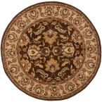 Heritage Brown/Ivory 3 ft. 6 in. x 3 ft. 6 in. Round Area Rug