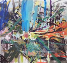 """""""Tropical Bed"""" original abstract painting by artist Gorkem Dikel (Turkey) available at Saatchi Art. #SaatchiArt"""