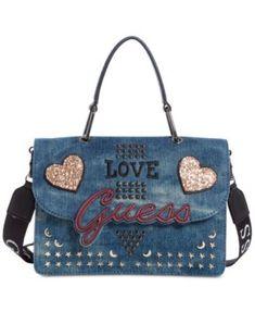 In Love Top Handle Denim Shoulder Bag   macys.com Denim Shoulder Bags, Small cb252e4336