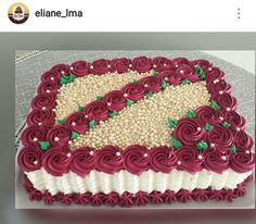Ideas birthday cake mujer flores for 2019 Cake Icing, Buttercream Cake, Fondant Cakes, Cupcake Cakes, Pastel Rectangular, Birthday Breakfast For Husband, Birthday Cake Girls Teenager, Foto Pastel, Birthday Presents For Her