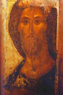 again the ineffable Rublev Christ... more about the iconographer at http://russiapedia.rt.com/prominent-russians/art/andrei-rublev/