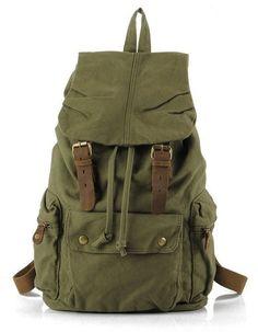 New Korea Mens womens Vintage Style Canvas Backpack Bag Rucksack Travel Bag 214bd7048adcd