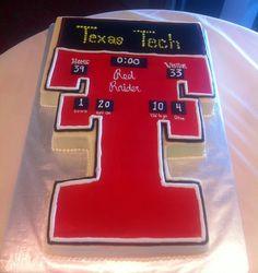 Texas Tech Score board Cake, Grooms Cake