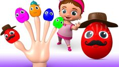Color Eggs Finger Family Nursery Rhymes - Cartoon Rhymes & Kids Songs for Children