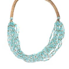 Beaded blue necklace!
