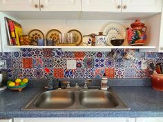 GypsyYaya-Removable Turkish Tile Decal Backsplash by Bleucoin on Etsy Apartment Kitchen, Apartment Living, Apartment Therapy, Apartment Ideas, Renters Solutions, Rental Kitchen, Floor Decal, Tile Decals, Vinyl Tiles