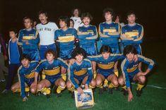 Boca Juniors Campeón del Torneo Metropolitano 1981.Parados:Mouzo,Rodriguez,Trobbiani,Pasucci,Ruggeri y Brindisi.Agachados:Escudero,Suarez,Maradona,Perotti y Córdoba.