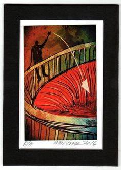 Farewells Digital Art Print by Javier Martinez 5 x 7 INCHES (4.25 x 6.50 Paper) #contemporaryart