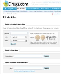 wikiHow to Locate the Name of an Unidentified Pill by Using the Drugs.com Pill ID Wizard -- via wikiHow.com