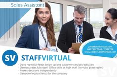 We make work fun join the #SV family! We're Hiring #SalesAssistant . . For faster application complete your profile at careers.staffvirtual.com and rest assured our Recruitment Specialists will assist you with your application. . . #StaffVirtual #StaffVirtualCareers #BPO #Outsourcing