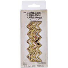 Chevron Sizzix Frameworks Border Die By Tim Holtz, Big Kick, Big Shot, Cut, Material, Cardmaking, Scrapbooking, Create, Mixed Media, Art
