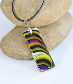 Jewelry Pendant Fused glass Necklace Gift Fused glass jewelry Heady glass pendant Crafts art glass Jewelry handmade Present Stained glass, Fused Glass Jewelry, Amber Jewelry, Glass Earrings, Glass Pendants, Pendant Jewelry, Jewelry Insurance, How To Make Necklaces, Making Ideas, Stained Glass